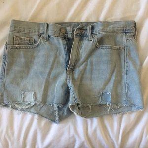 Gap Light Wash Denim Slim Shorts